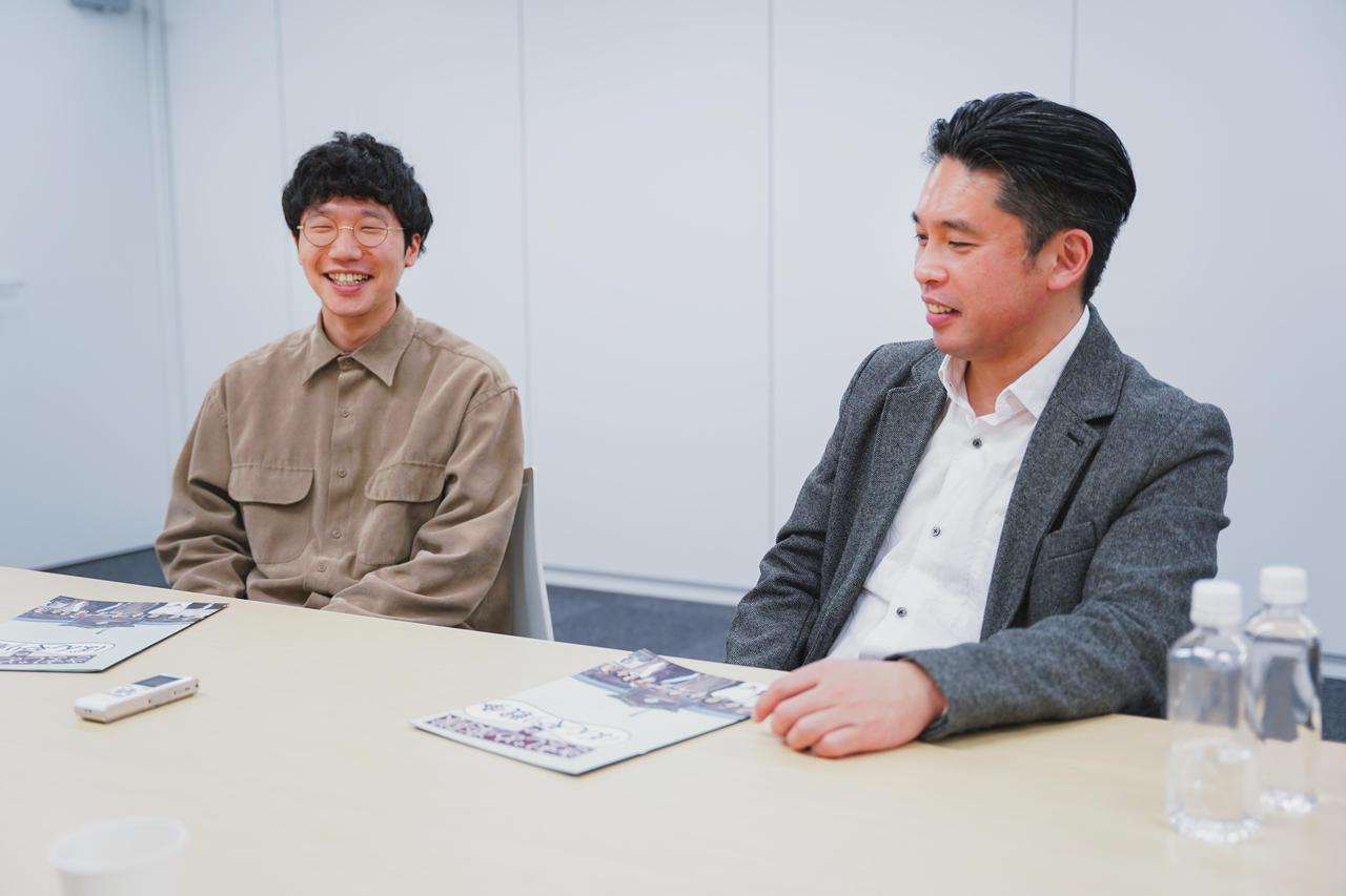 画像1: 左より、前原滉さん×池田暁監督