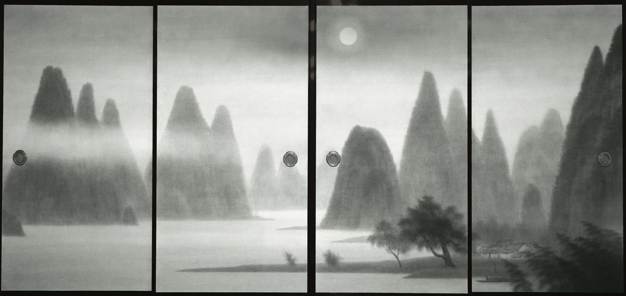 画像: 《唐招提寺御影堂障壁画 桂林月宵》(部分) 1980(昭和55)年 唐招提寺蔵