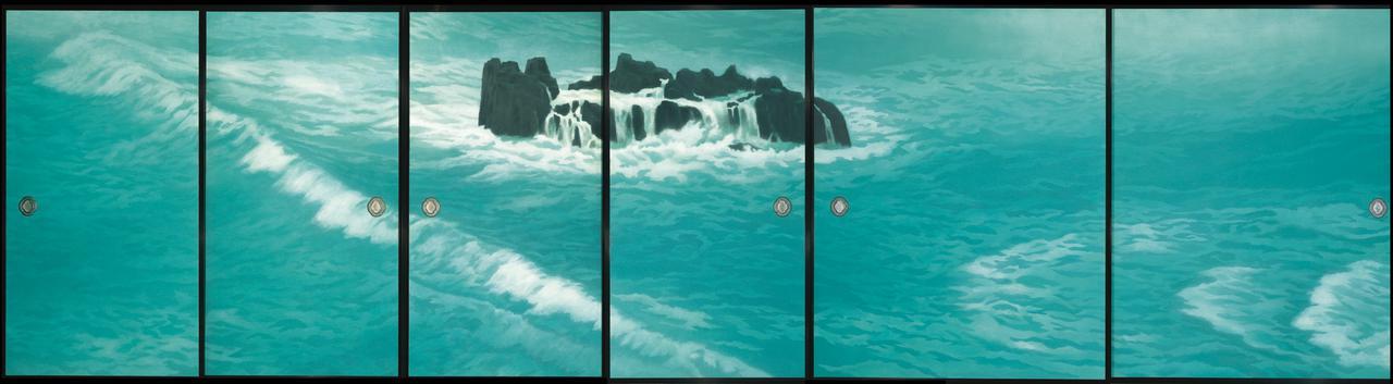 画像: 《唐招提寺御影堂障壁画 濤声》 (部分) 1975(昭和50)年 唐招提寺蔵