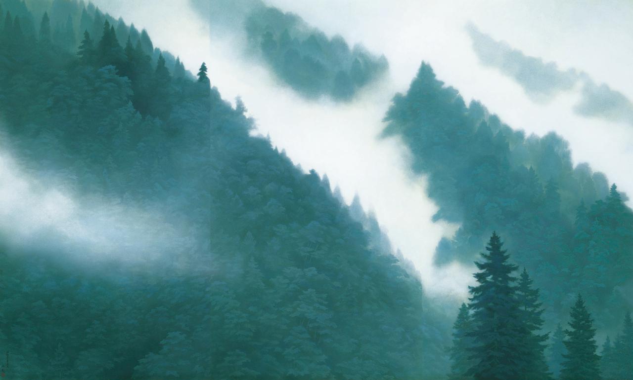 画像2: 《唐招提寺御影堂障壁画 山雲》 (部分) 1975(昭和50)年 唐招提寺蔵