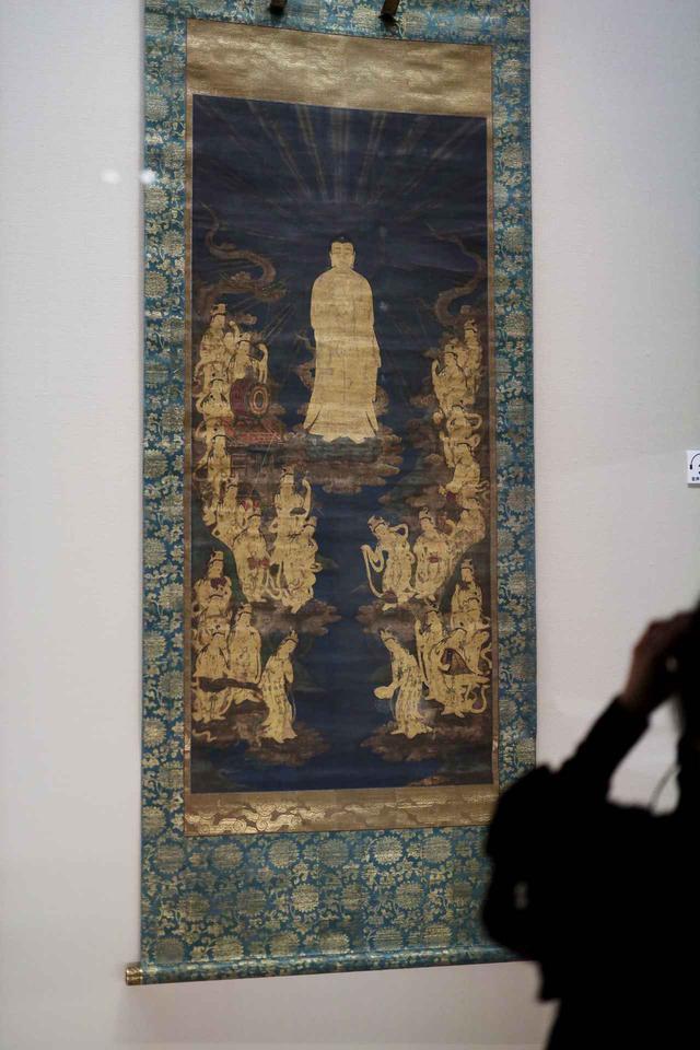 画像: 阿弥陀二十五菩薩来迎図 鎌倉時代14世紀 根津美術館蔵