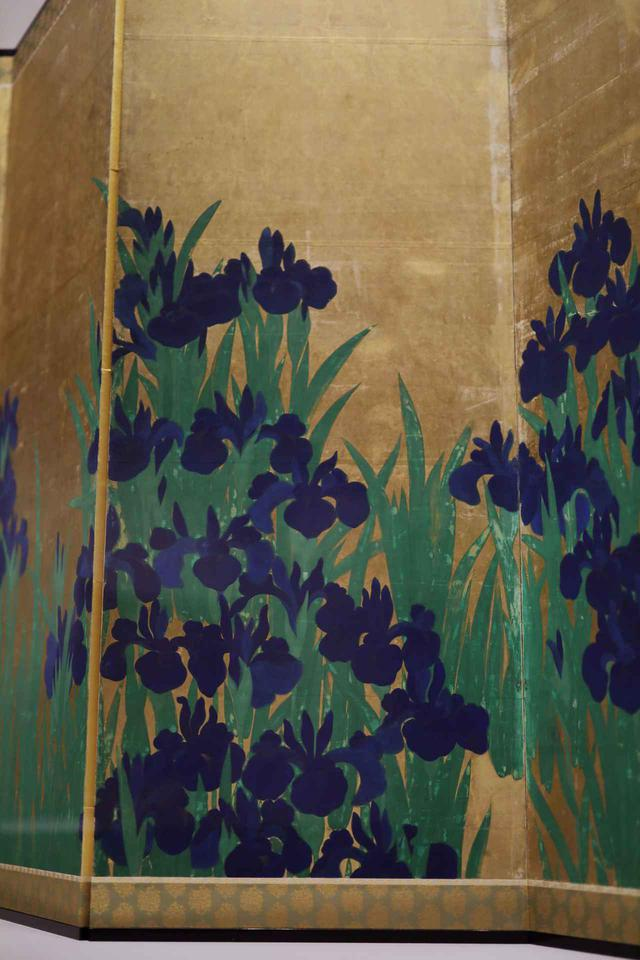 画像1: 尾形光琳 燕子花図屏風 江戸時代18世紀 根津美術館蔵 国宝 左隻(部分)
