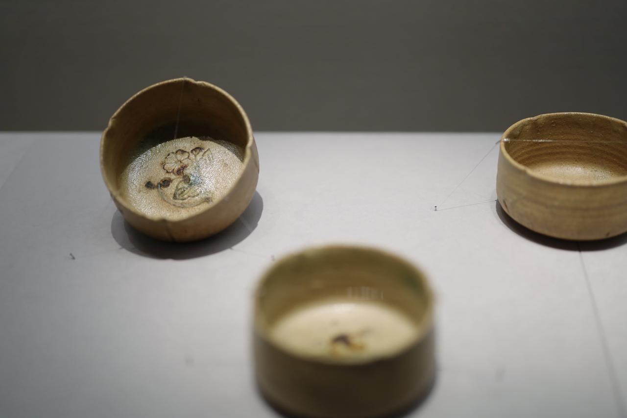 画像: 黄瀬戸輪花向付 美濃 桃山時代16〜17世紀 根津美術館蔵 5口のうち3口