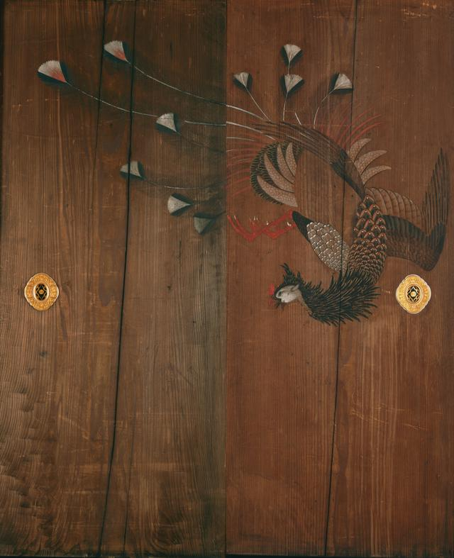 画像: 《相国寺方丈杉戸絵》 原在中筆 鳳凰図 三十六面のうち 板地著色 江戸時代 相国寺蔵