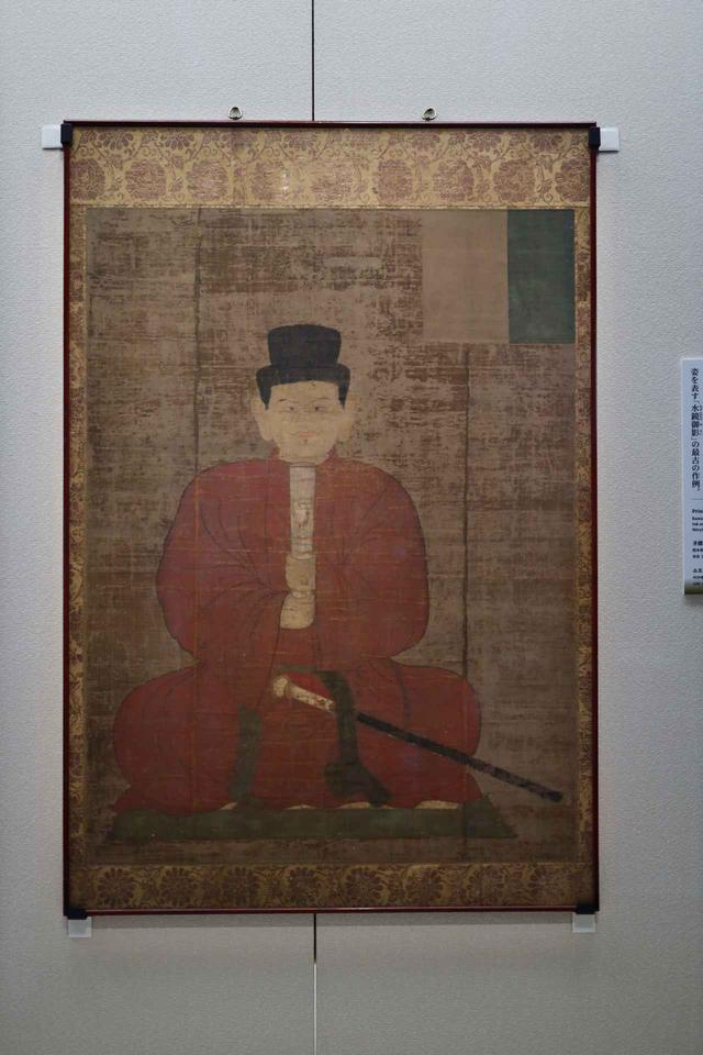 画像: 聖徳太子像「水鏡御影」 鎌倉時代14世紀 奈良・法隆寺 太子が35歳の時に水面に映った自分の姿を見て自画像を描いた、という法隆寺の伝承に基づく肖像