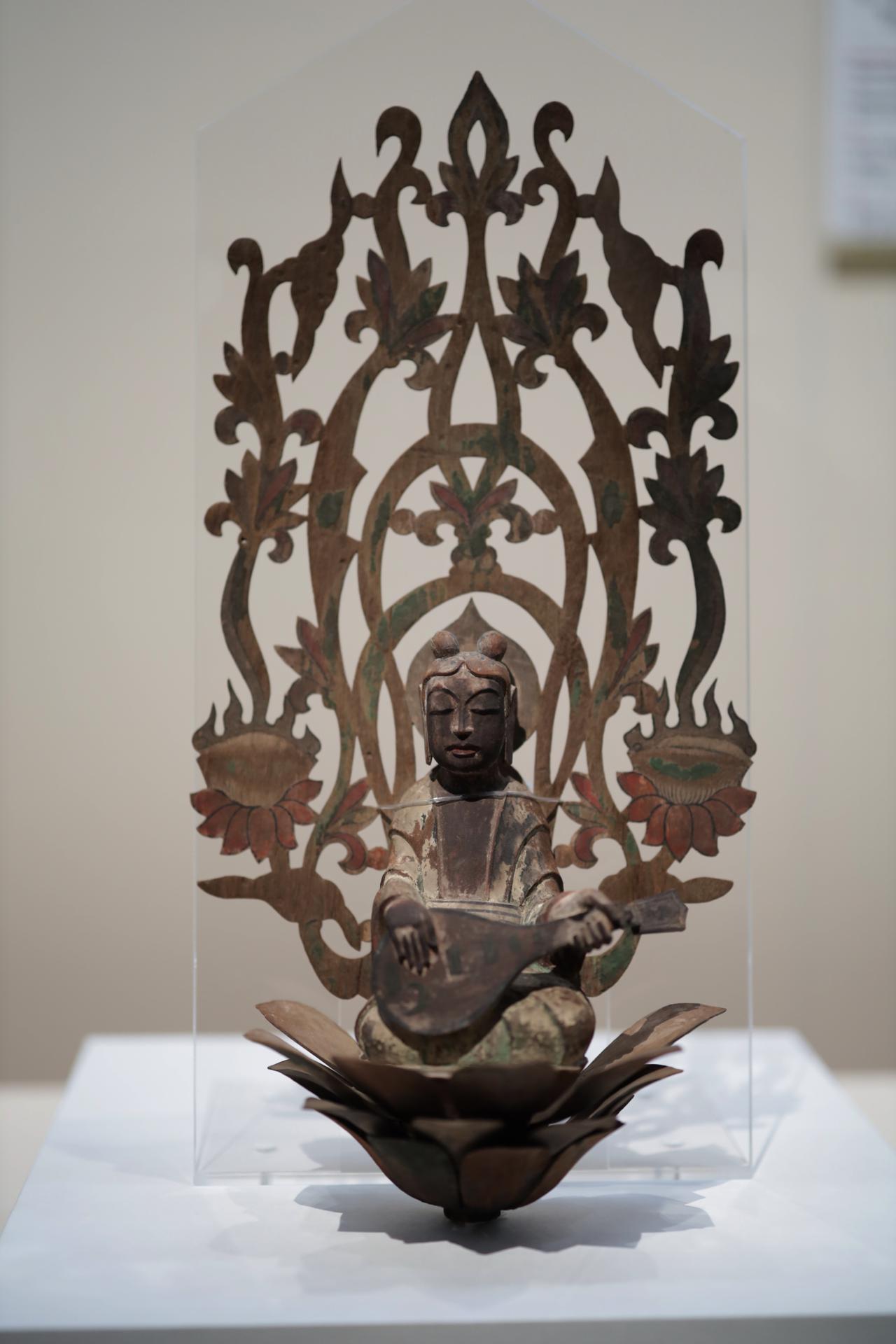 画像: 天人(法隆寺金堂天蓋付属) 飛鳥時代7世紀 奈良・法隆寺 国宝 法隆寺金堂で仏像の上に吊り下げられた天蓋の一部