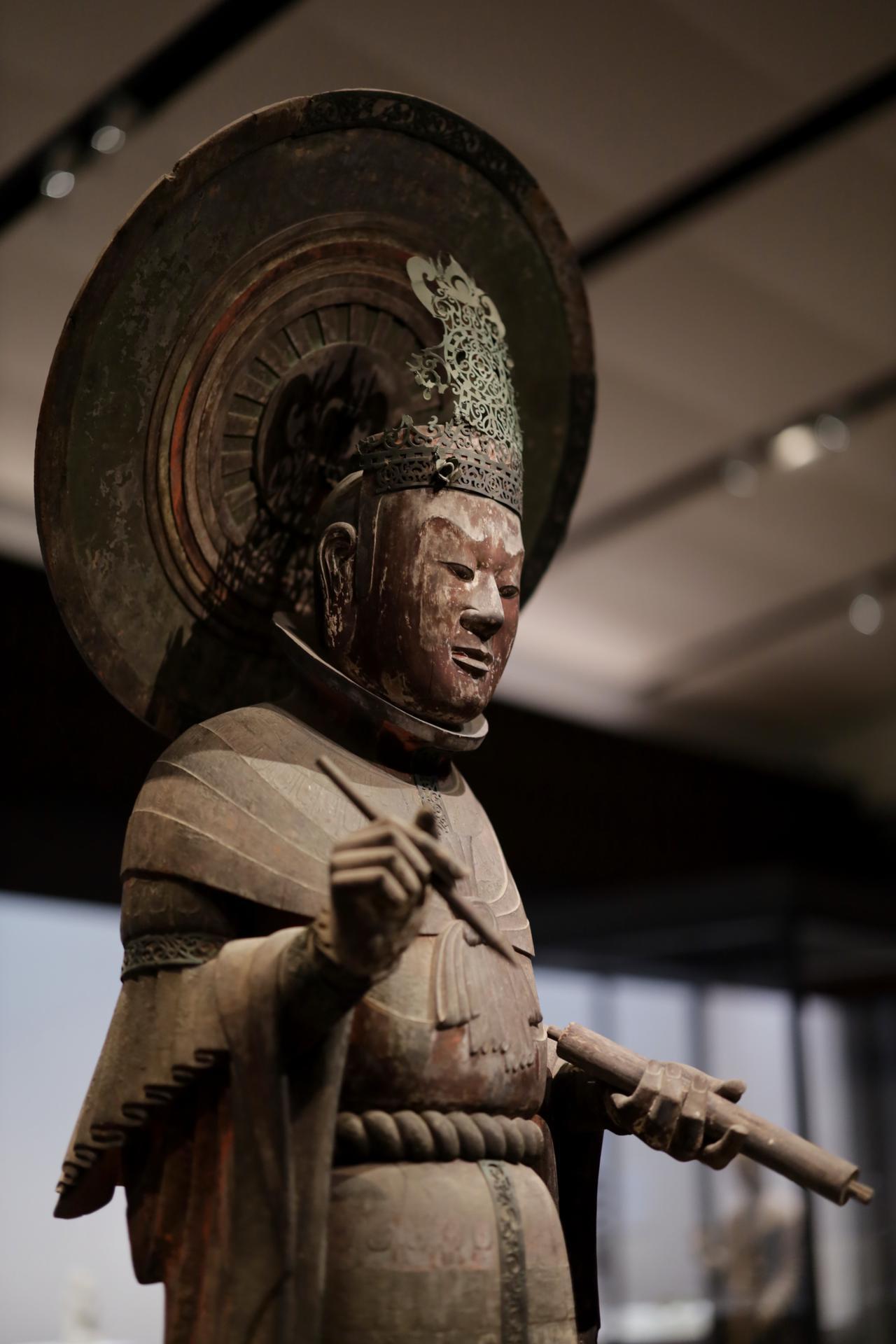 画像2: 四天王立像・広目天 飛鳥時代7世紀 奈良・法隆寺(金堂安置) 国宝