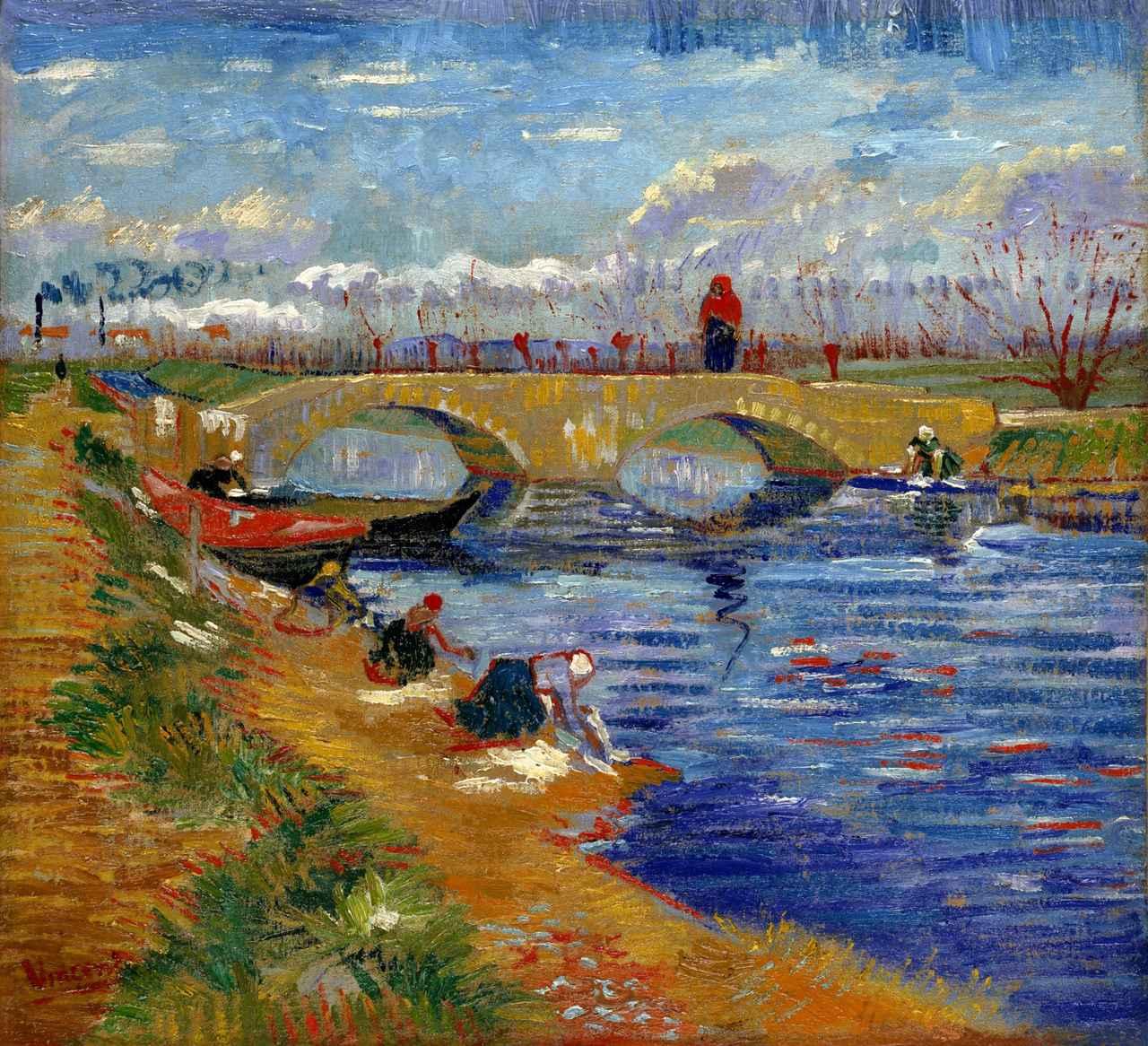 画像: フィンセント・ファン・ゴッホ《ヴィゲラ運河にかかるグレーズ橋》 1888年 ポーラ美術館蔵