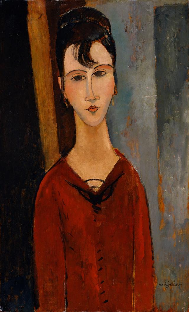 画像: アメデオ・モディリアーニ《婦人像(C.D.夫人)》 1916年頃 ポーラ美術館蔵