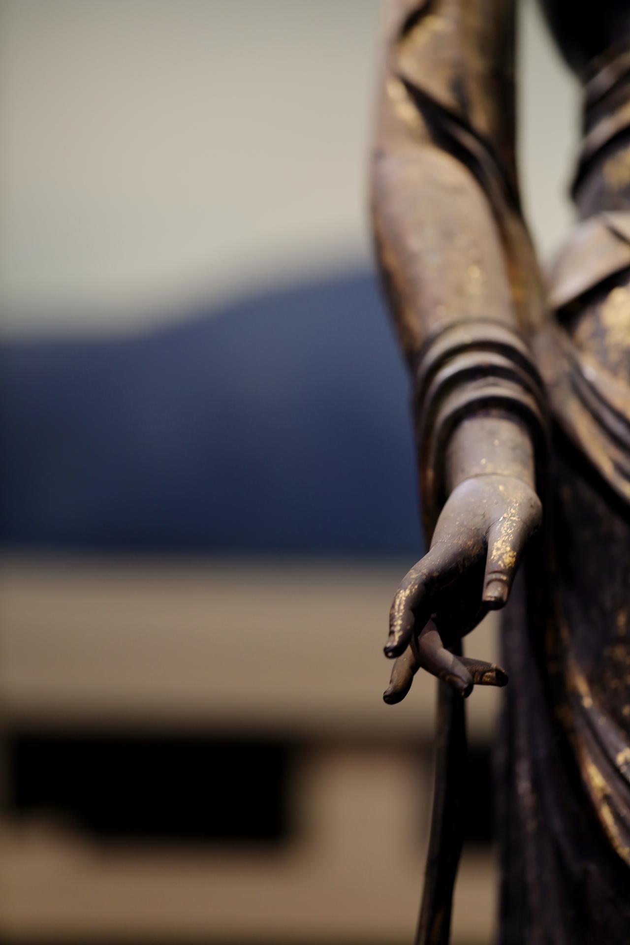 画像: 国宝 十一面観音菩薩立像 (部分・右手)奈良時代・8世紀 奈良・聖林寺蔵
