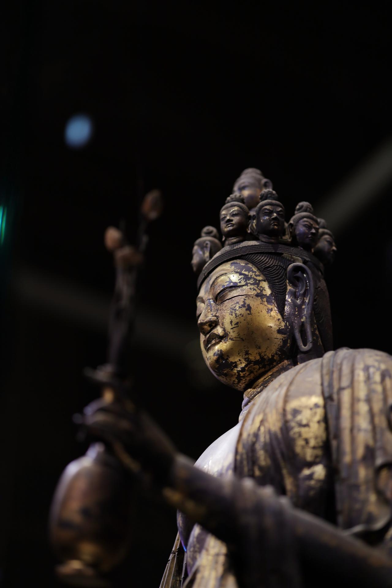 画像2: 国宝 十一面観音菩薩立像 (部分) 奈良時代・8世紀 奈良・聖林寺蔵
