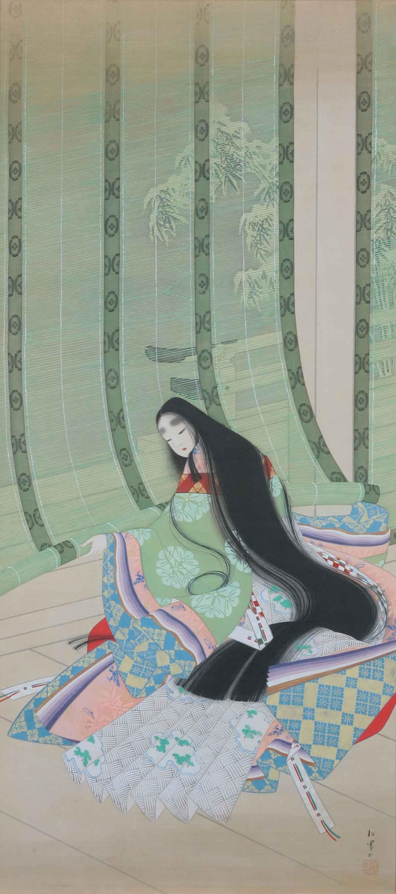 画像: 上村松園《清少納言》1917-18年頃 個人蔵 [通期展示]