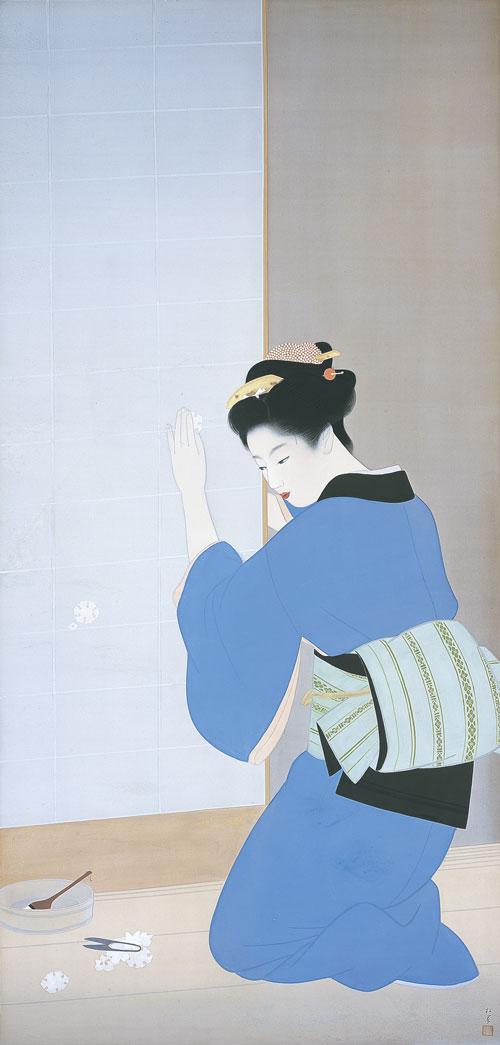 画像: 上村松園《晩秋》1943年 大阪市立美術館蔵[前期展示]