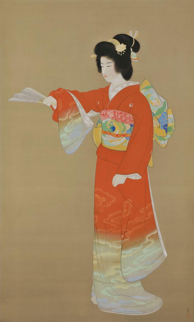 画像: 重要文化財 上村松園《序の舞》1936年 東京藝術大学蔵[後期展示]
