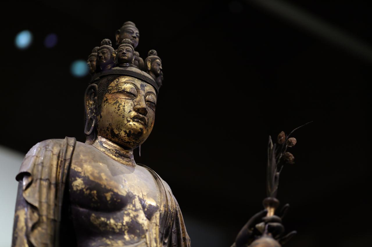 画像3: 国宝 十一面観音菩薩立像 (部分) 奈良時代・8世紀 奈良・聖林寺蔵