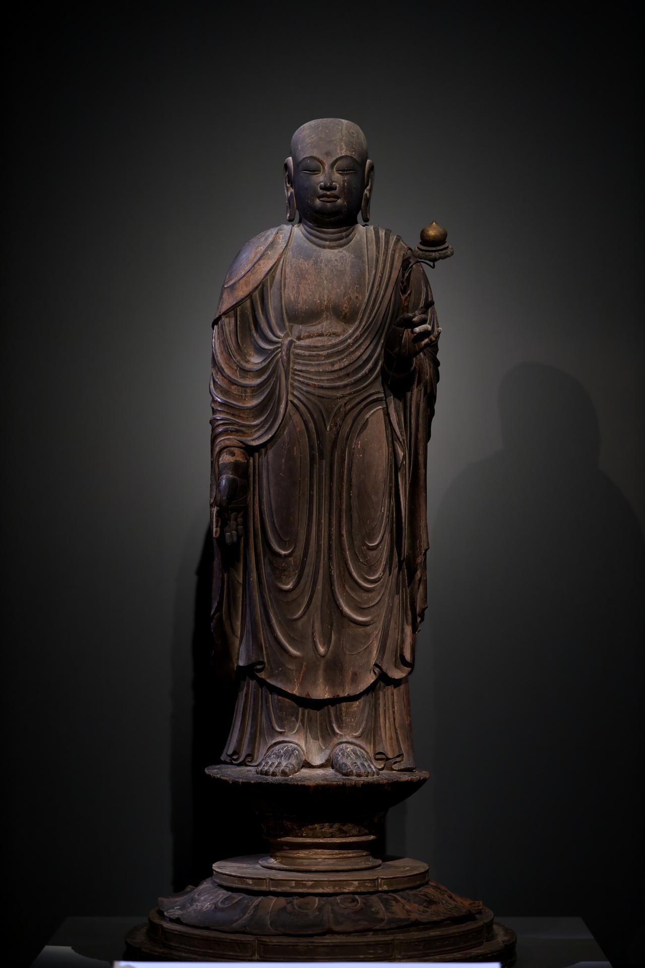 画像8: 国宝 地蔵菩薩立像 平安時代・9世紀 奈良・法隆寺蔵