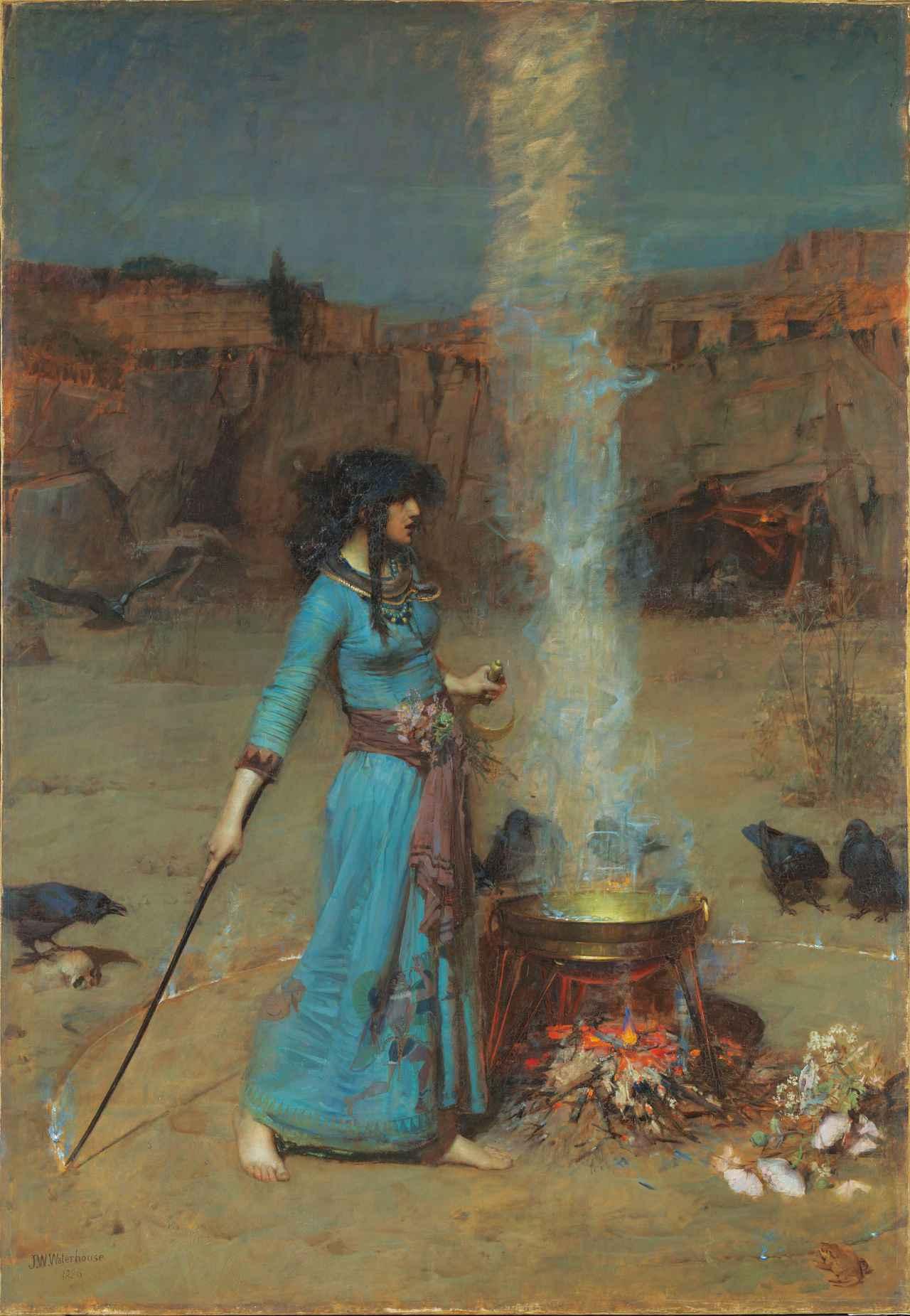 画像: ジョン・ウィリアム・ウォーターハウス《魔法円》 1886年 油彩/カンヴァス テート蔵 ©Tate, London 2019