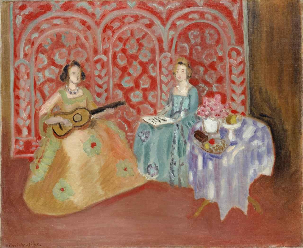 画像: 《室内:二人の音楽家》 アンリ・マティス  1923年  油彩/カンヴァス  ポーラ美術館蔵