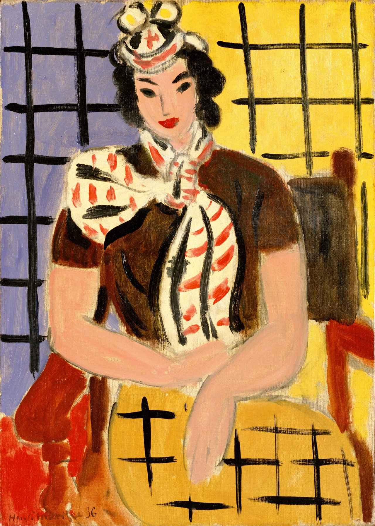 画像: 《襟巻の女》 アンリ・マティス  1936年 油彩/カンヴァス  ポーラ美術館蔵
