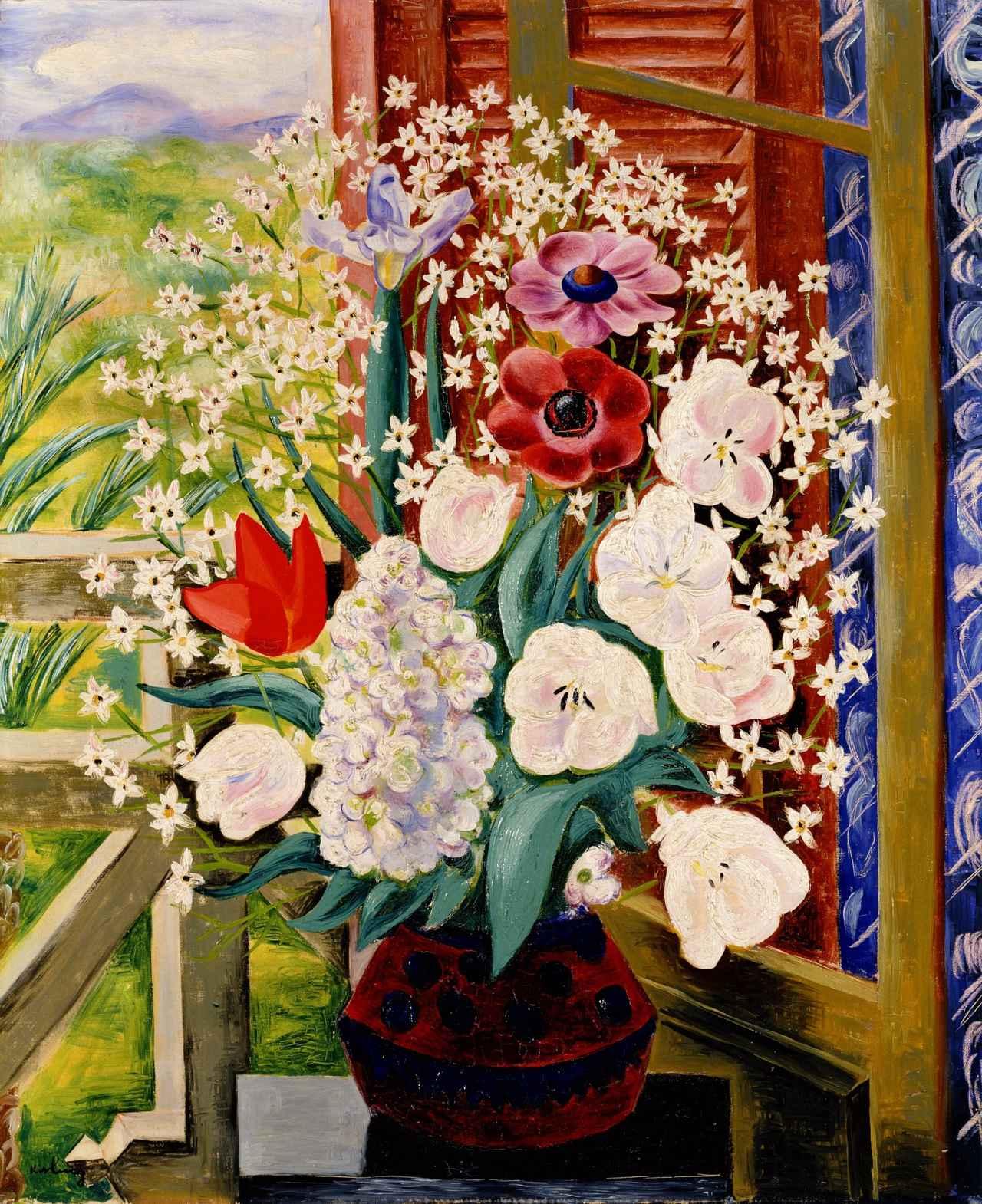 画像: 《花》キスリング 1929年  油彩/カンヴァス  ポーラ美術館蔵
