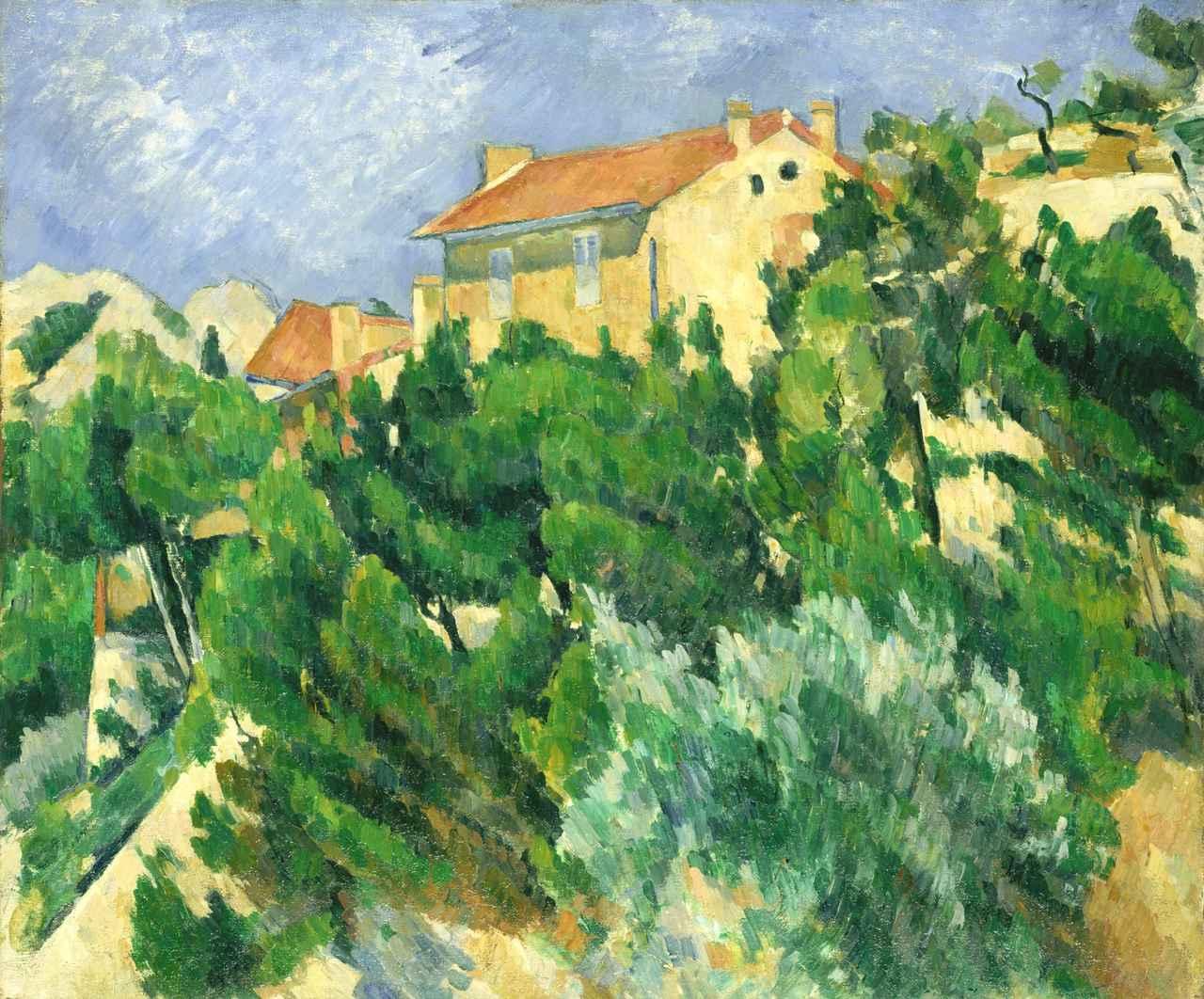 画像: 《プロヴァンスの風景》 ポール・セザンヌ 1879-1882年 油彩/カンヴァス  ポーラ美術館蔵