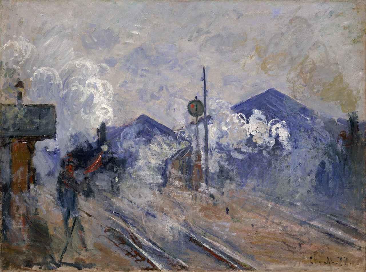 画像: 《サン=ラザール駅の線路》 クロード・モネ  18 77年  油彩/カンヴァス  ポーラ美術館蔵