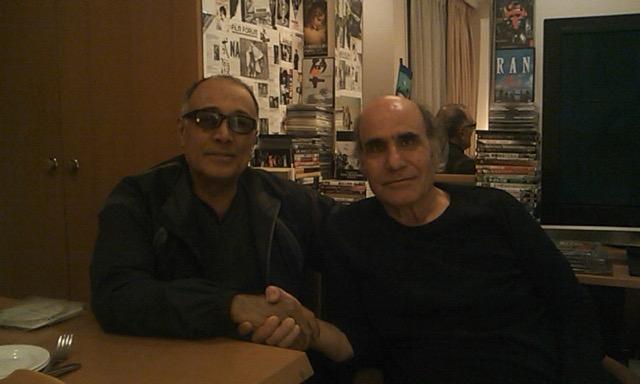 画像: キアロスタミ監督とナデリ監督 2010年、『CUT』撮影中のナデリ監督の日本の自宅にて。photo by ショーレ・ゴルパリアン