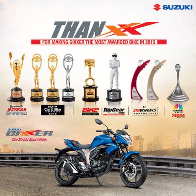 画像: スズキの155ccロードスポーツ「GIXXER」が、9つのバイクオブザイヤーを受賞!