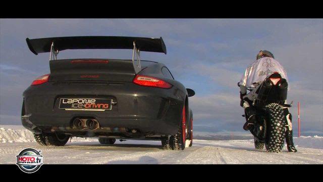画像1: 911 GT3対ヤマハ YZF R1- 時速250km以上で駆け抜けるその場所は・・・