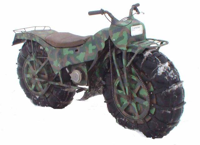 画像2: ロシアから空気をこめて? バルーンタイヤの2輪駆動車