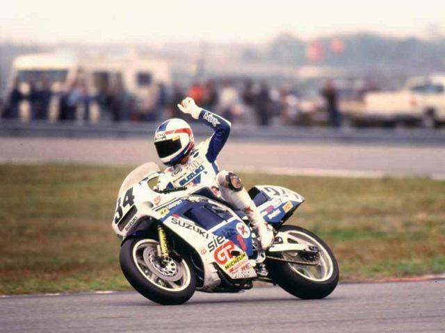 画像: 1988年、GSX-Rを駆り、スズキのデイトナ200初制覇をプレゼントしたケビン・シュワンツ www.motorcyclistonline.com