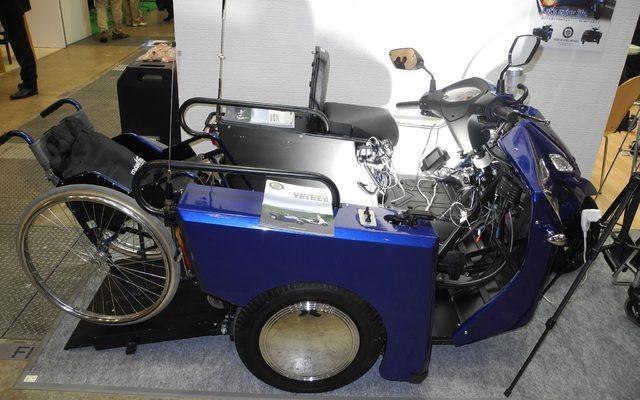 画像: 【ケアテックス15】車いすでも運転可能なバイク、サイドカー付で120万円