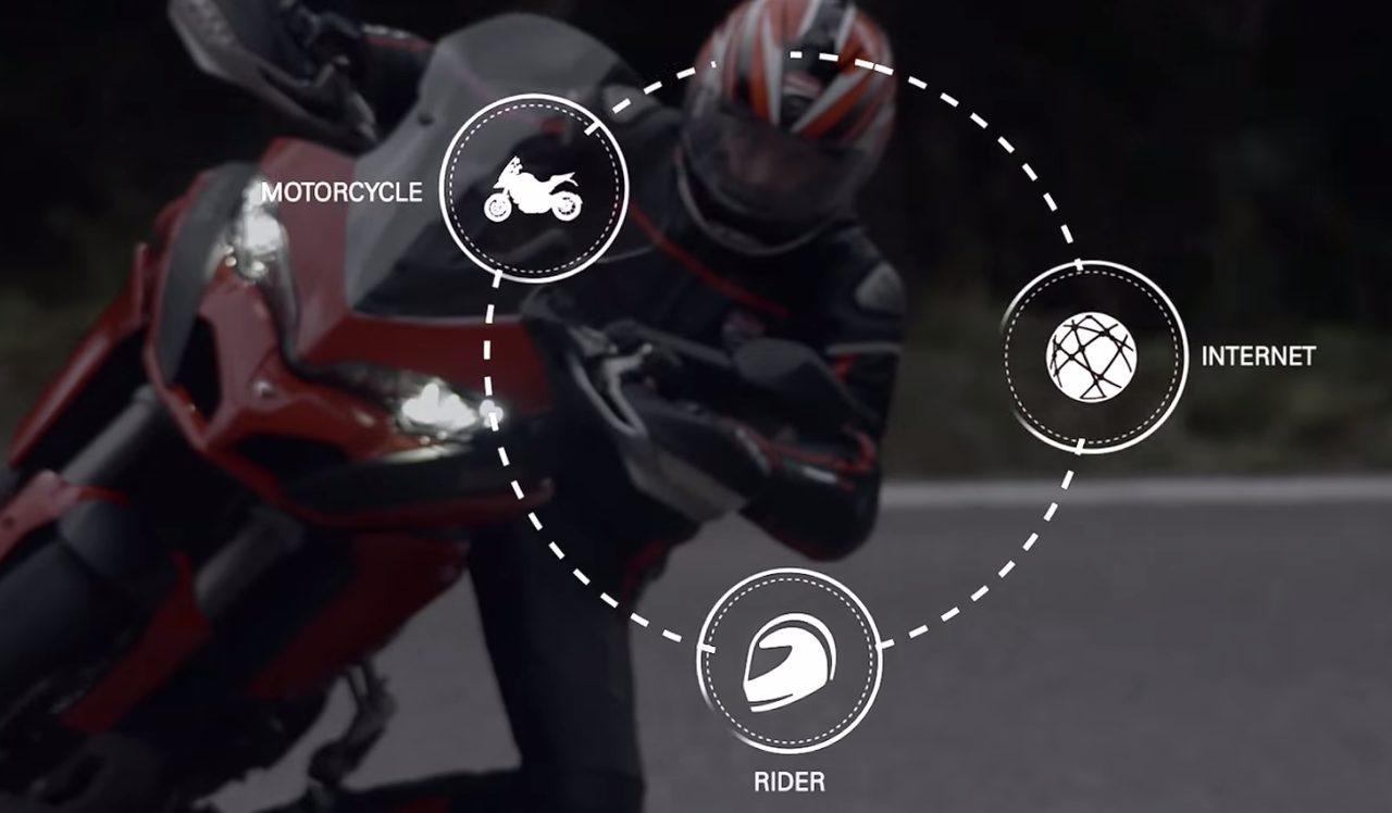 画像: ライダーとバイクとネットを接続??