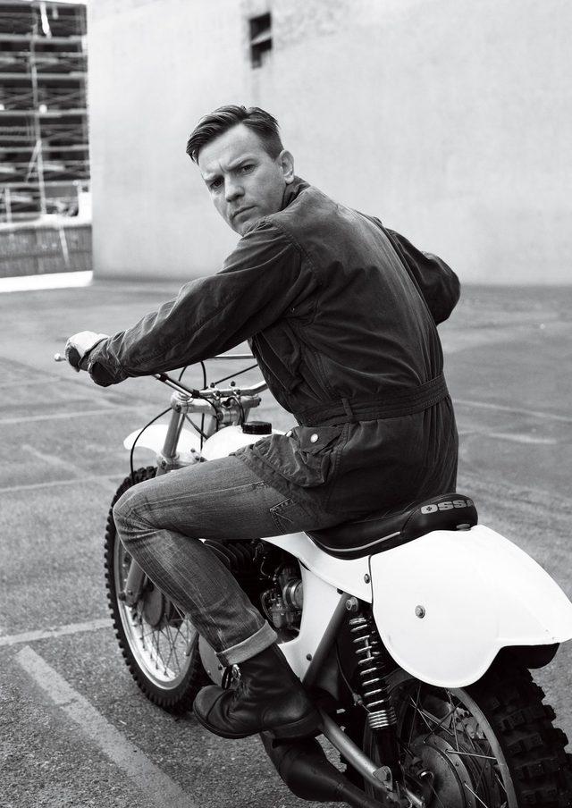 画像: ユアン・マクレガーとオールドバイク silodrome.com