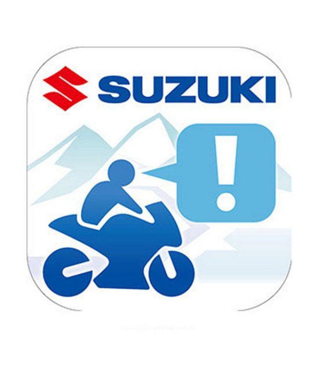 画像: 【東京モーターサイクルショー15】スズキ、iPhone向けツーリングアプリを参考出品