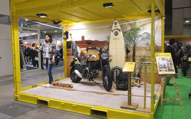 画像: 【東京モーターサイクルショー15】個性的な展示が目を惹く、ドゥカティ スクランブラー