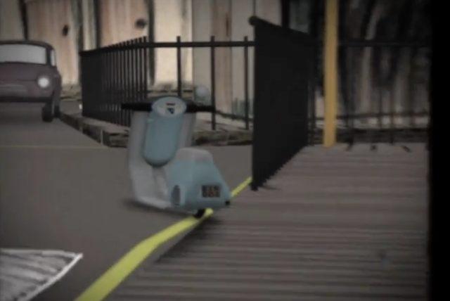 画像: 路肩に停められたベスパ