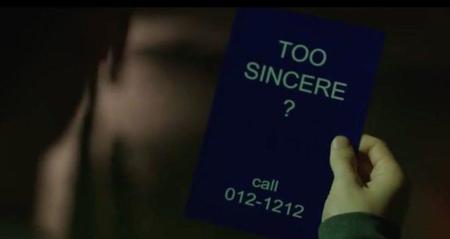 画像: 誠実すぎるのか?という謎のメッセージと電話番号が。