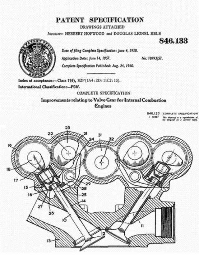 画像: ノートンのデスモドロミック。吸気側・排気側の開閉用カムをそれぞれ独立した軸に置いているのが特徴でした。 www.italian.sakura.ne.jp