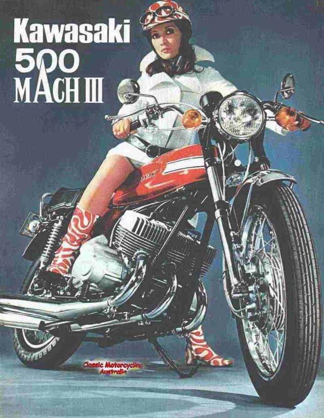 画像: Kawasaki 500cc triple MachIII of 1970 www.ozebook.com