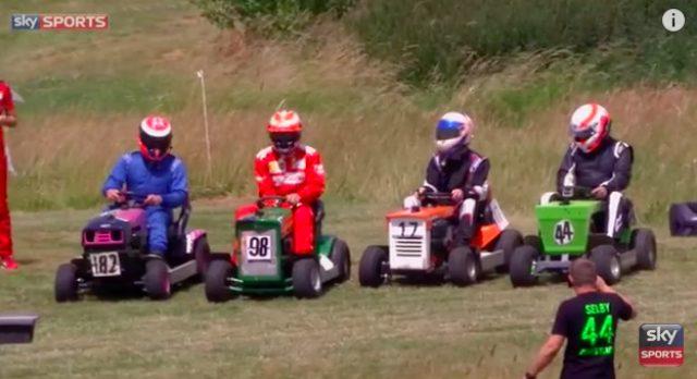 画像: フェラーリから参戦!豪華F1レーサー達による爆走・芝刈り機レースがスゴイ。ついでにHONDAの世界最速芝刈り機がスゴイ。