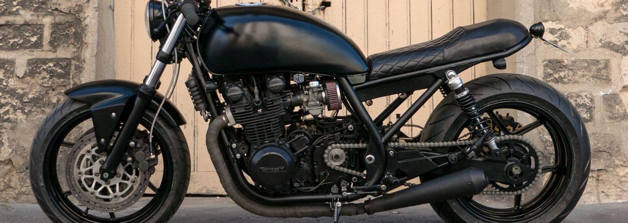 """画像: トーマスの【カネがあったらカスタムしてほしい】Bad Winnersの""""黒""""のZephyr750がマットすぎる!! - LAWRENCE(ロレンス) - Motorcycle x Cars + α = Your Life."""