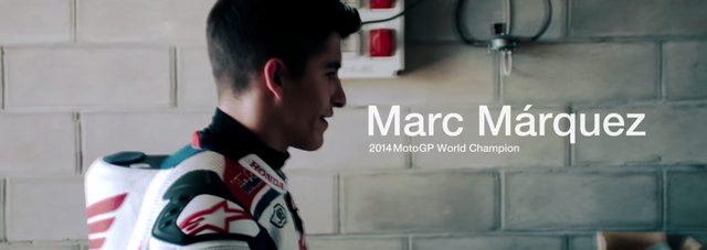 画像: やはり。2014年MotoGP世界チャンピオンのマルク・マルケス youtu.be