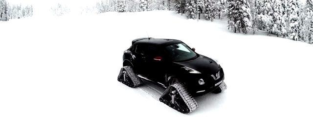 画像1: 見た目のインパクト大!雪山でも走れる車NISSANの「JUKE NISMO RSnow」!