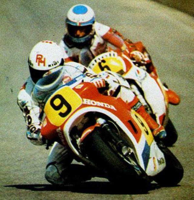画像: 1983年、ホンダNS500で優勝したロン・ハスラム。 pbs.twimg.com