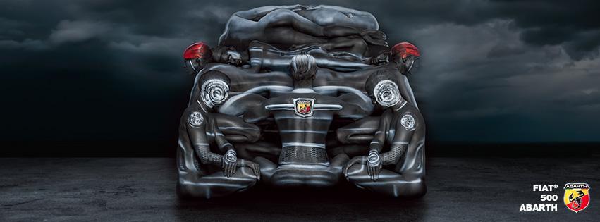 画像: 女性の肉体で作られたセクシーなフィアット!ボディペイントアートがすごい! - LAWRENCE(ロレンス) - Motorcycle x Cars + α = Your Life.