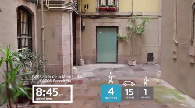 画像: 現在時刻やスケジュールに従ってアポイントの時間や、徒歩や車での所要時間が表示されます www.youtube.com