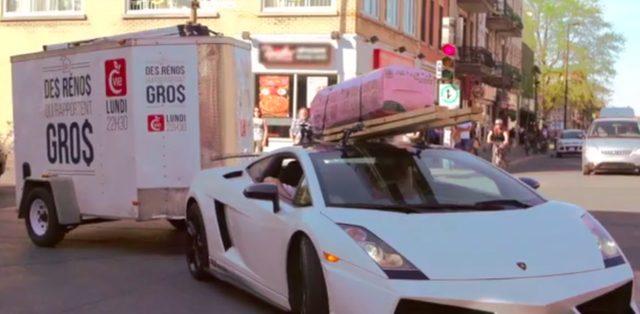 画像1: 超高級車ランボルギーニ ガヤルドを大胆に活用する様子に街中の人々は釘付け!!