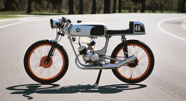 画像: これはマジレア。1966 MONTGOMERY WARDS RIVERSIDE 450SS。イタリアのベネリ社製。 www.analogmotorcycles.com