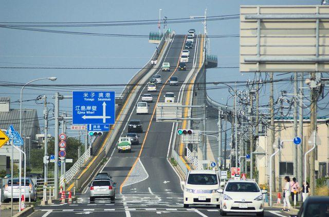 画像: 島根県 江島大橋 ベタ踏み坂 find-travel.jp